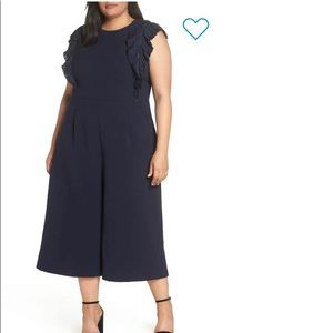 🆕Chelsea28 Pleated Crop Jumpsuit NWT